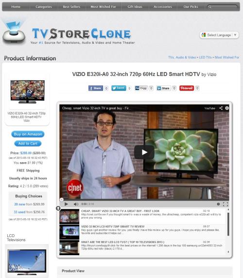 TV Store Clone