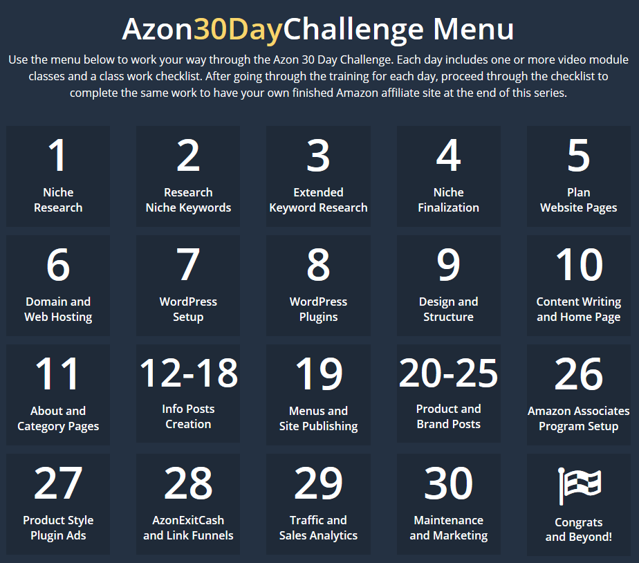 Azon 30-Day Challenge classes