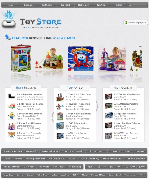 Toy Store Clone